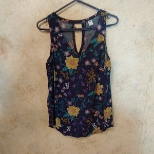 Old Navy Blue, Purple, and Yellow Sleeveless Top